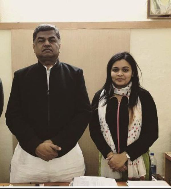 Apoorva Shukla With Congress General Secretary B.K. Hariprasad