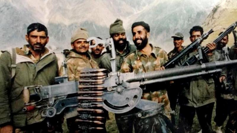Captain Vikram Batra After Capturing Point 5140
