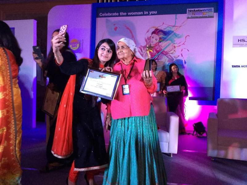 Chandro Tomar posing with HT Women Award