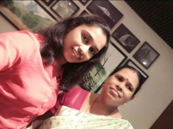Dipa Karmakar with her mother