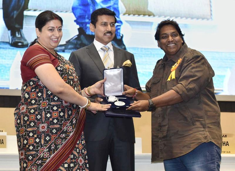 Ganesh Acharya Receiving His National Award