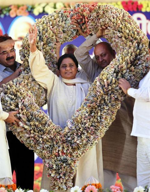 Garland over Mayawati