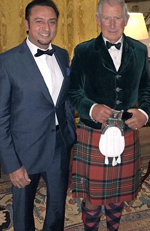 Gulshan Grover and Prince Charles at Dumfries House