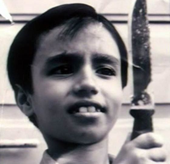 Gulshan Grover in his childhood