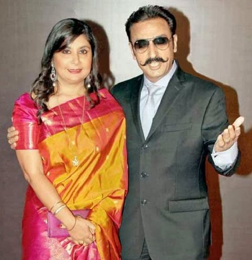Gulshan Grover with his ex wife Kashish Grover