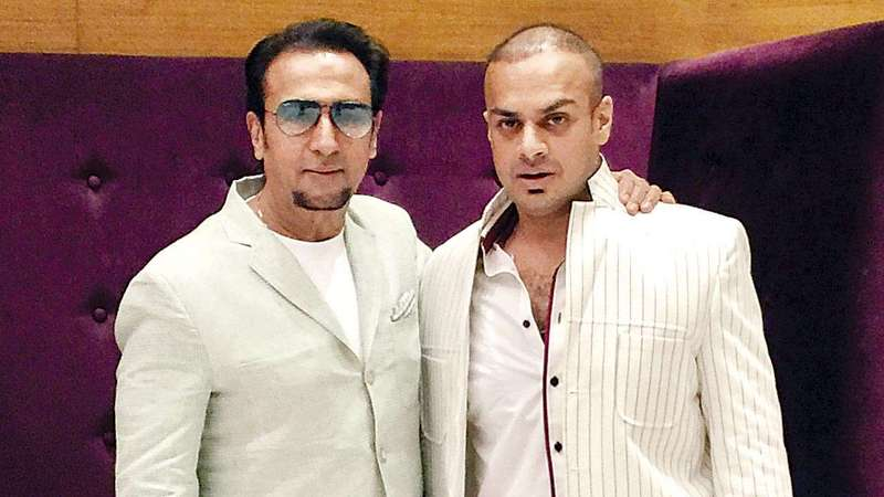 Gulshan Grover with his son Sanjay Grover
