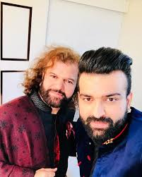 Hans Raj Hans with his son Navraj Hans