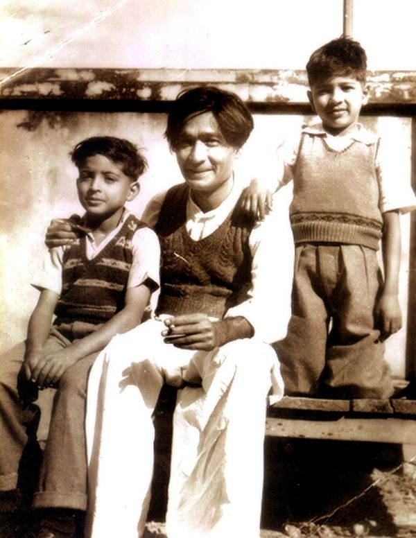 Javed Akhtar With His Father and Brother