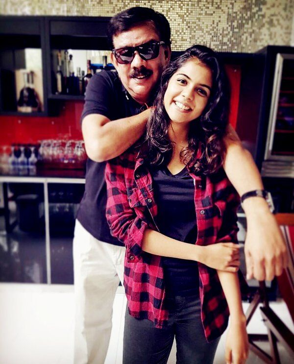 Kalyani Priyadarshan And Her Father Priyadarshan