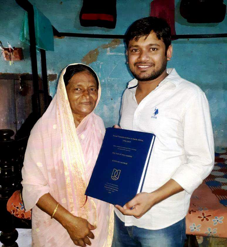 Kanhaiya Kumar With His Mother Meena Devi