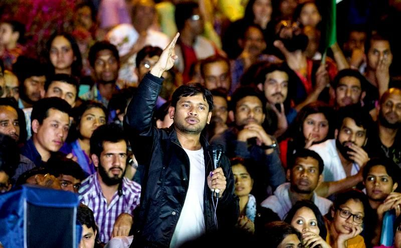 Kanhaiya Kumar Addressing The Students After Being Released From Jail