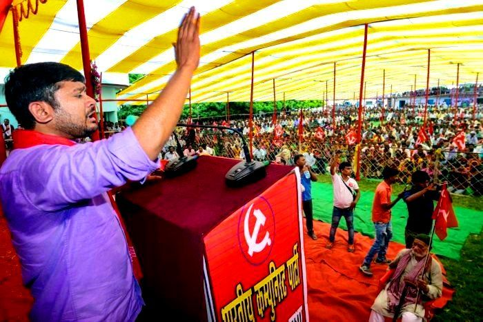 Kanhaiya Kumar Speaking At A CPI Rally