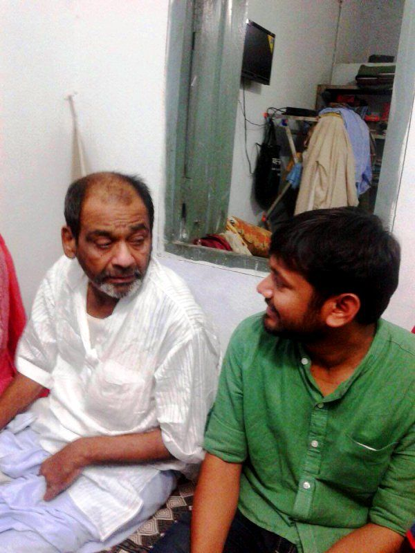 Kanhaiya Kumar With His Father Jaishankar Singh