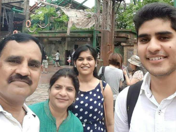 Kanishak Kataria with his family