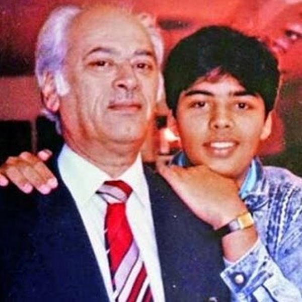 Karan Johar With His Father Yash Johar