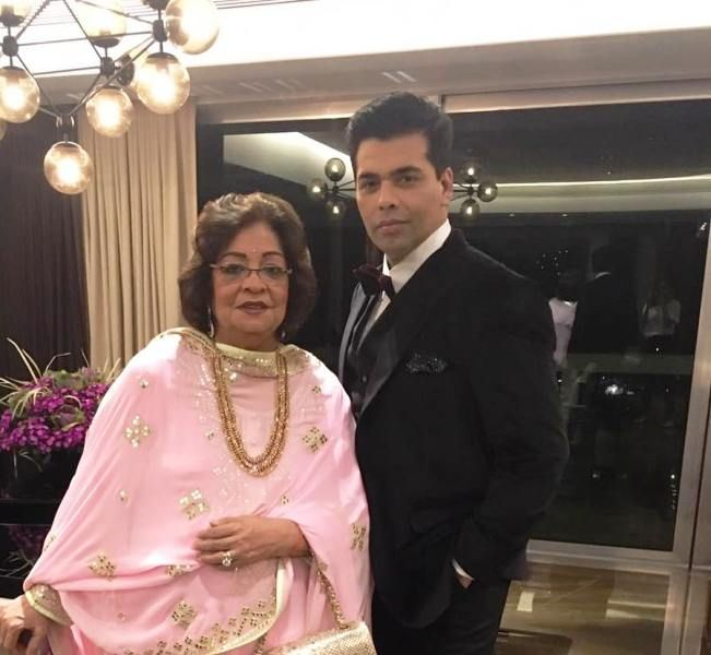 Karan Johar With His Mother Hiroo Johar