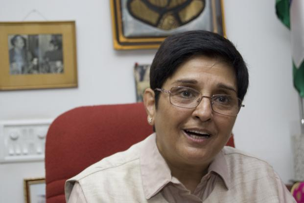Kiran Bedi as the Lieutenant Governor of Puducherry