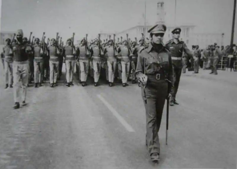 Kiran Bedi leading the Republic Day Parade in 1975