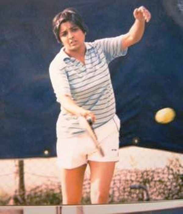 Kiran Bedi playing Tennis