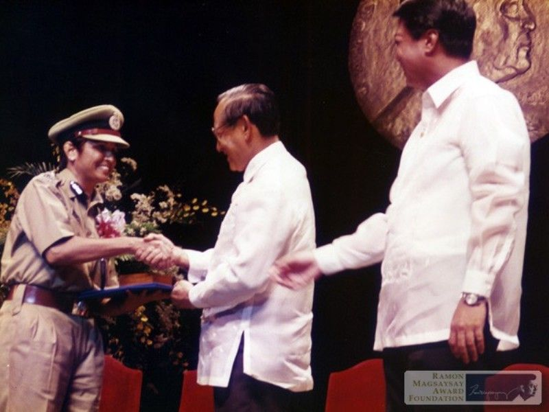 Kiran Bedi receiving the Ramon Magsaysay Award