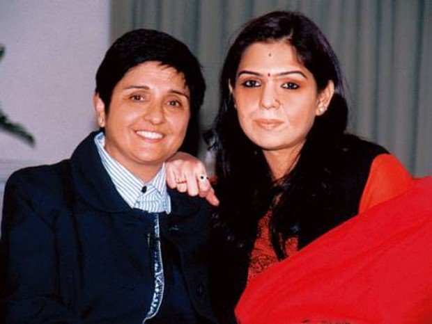 Kiran Bedi with her daughter