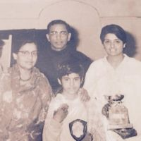 Kiran Bedi with her parents