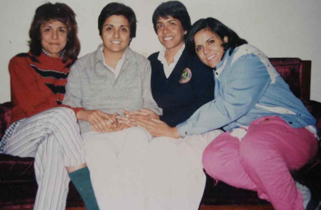 Kiran Bedi with her sisters