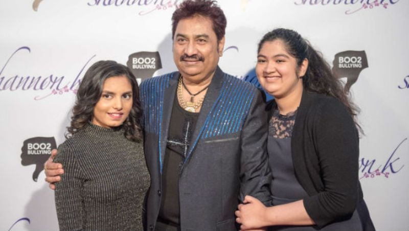 Kumar Sanu With His Daughter Shannon K And Annabel K