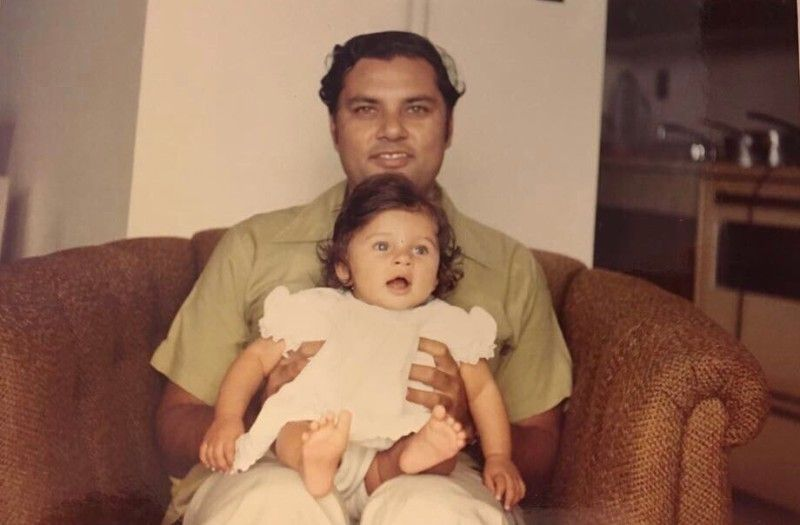 Lisa With Her Father L. K. Dutta