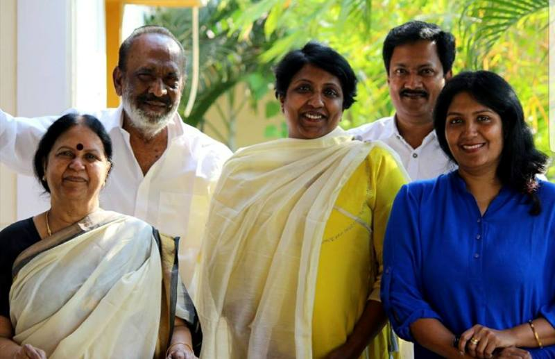 Mahendran With His Family