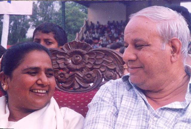 Mayawati and Kanshi Ram