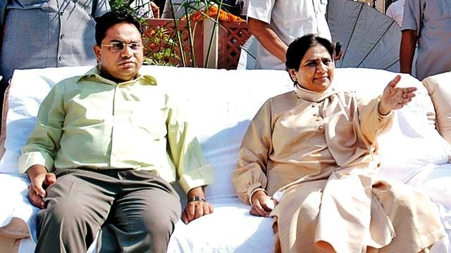 Mayawati with her brother