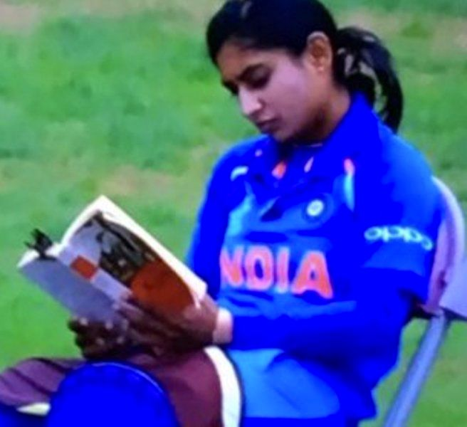 Mithali Raj Reading Before Her Match