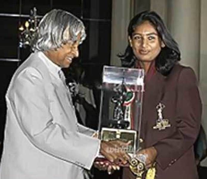 Mithali Raj Receiving Arjuna Award