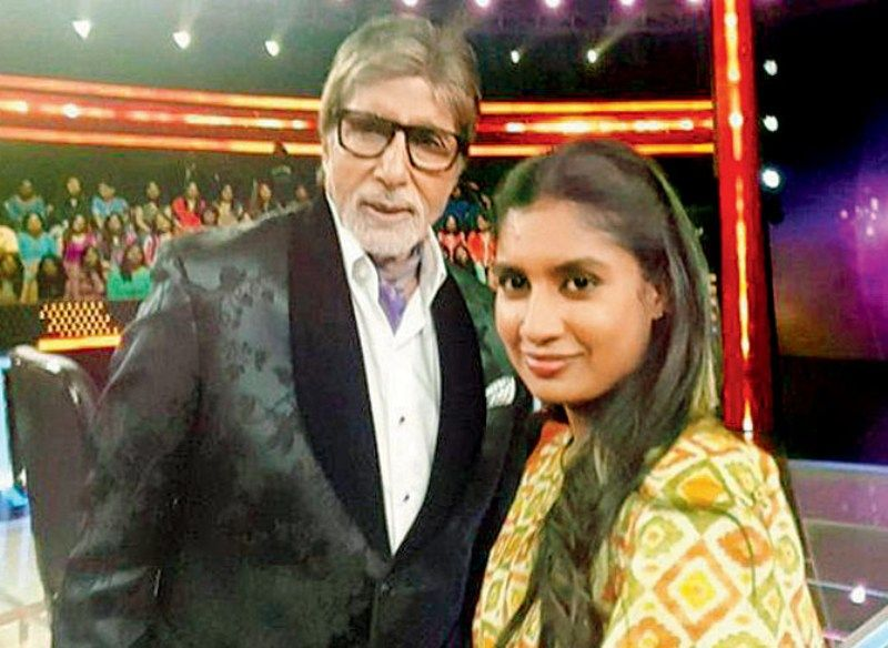 Mithali Raj With Amitabh Bachchan On The Sets Of Kaun Banega Crorepati