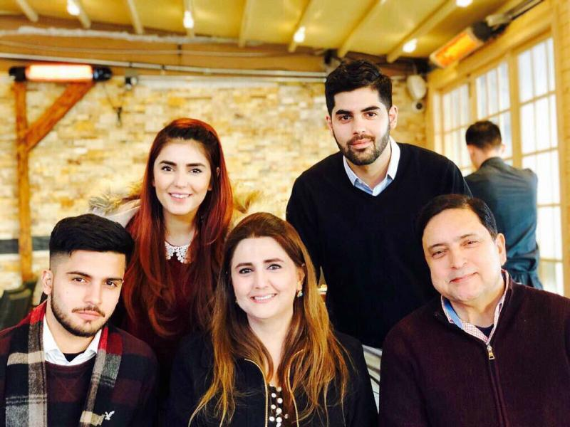 Momina Mustehsan with her family