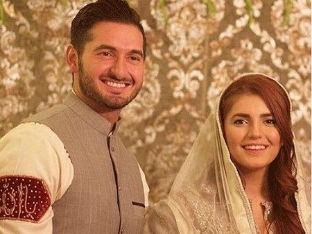 Momina Mustehsan with her fiance Ali Naqvi