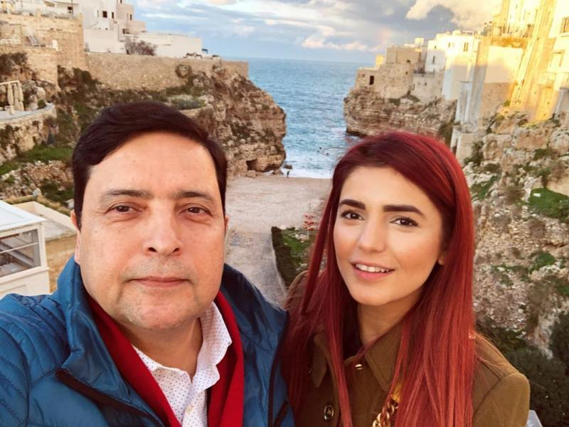 Momina with her father