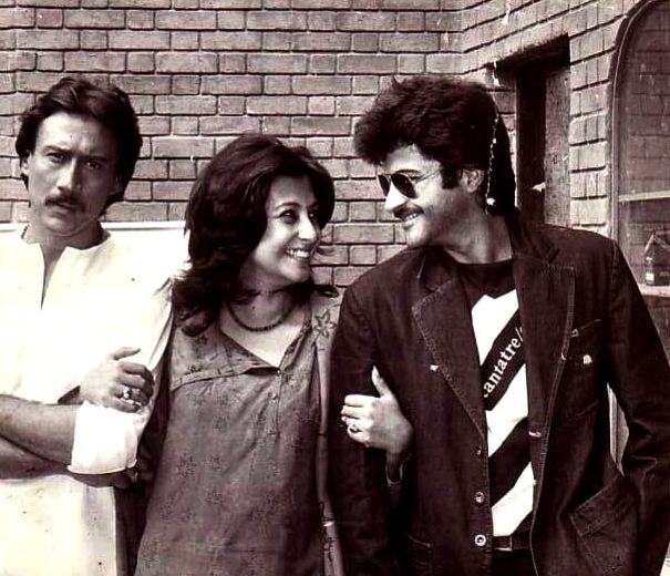 Moon Moon Sen With Jackie Shroff And Anil Kapoor