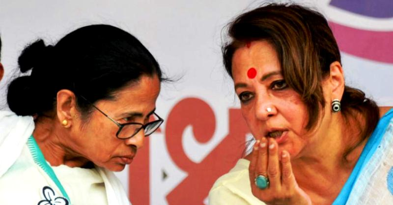Moon Moon Sen With Mamata Banerjee