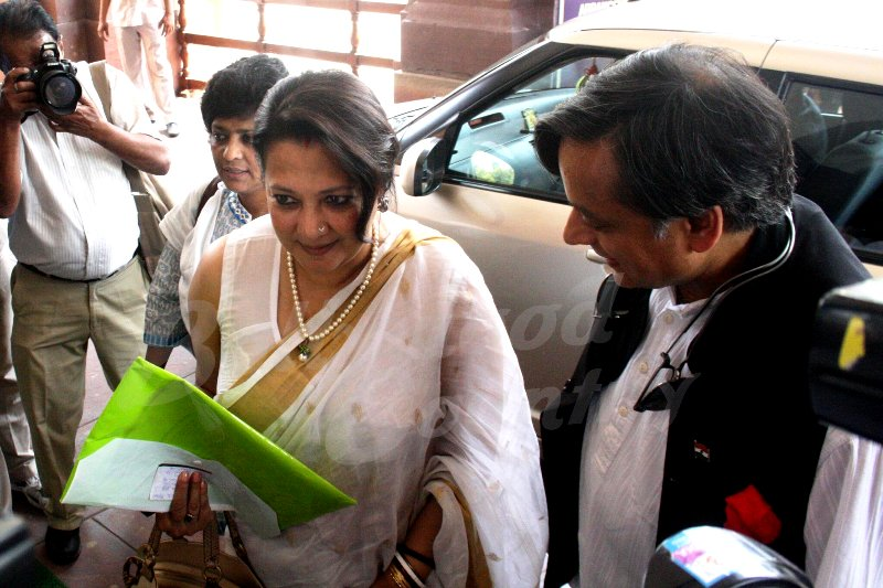 Moon Moon Sen's First Day In Lok Sabha