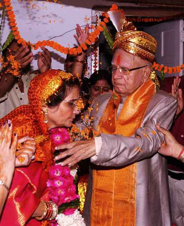 N. D. Tiwari And Ujjwala Tiwari Got Married