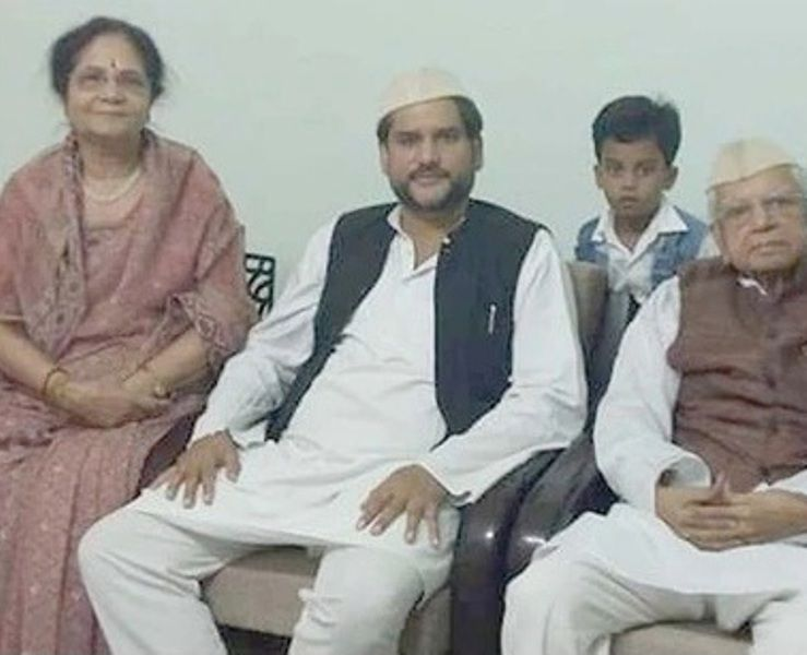 N. D. Tiwari, His Wife Ujjwala Tiwari And His Son Rohit Shekhar