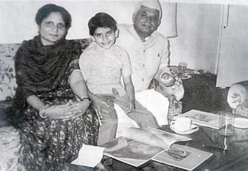 Old Picture of N. D. Tiwari With Ujjawala Tiwari And Their Son Rohit Shekhar