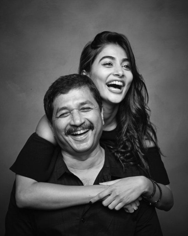 Pooja Hegde With Her Father Manjunath Hegde