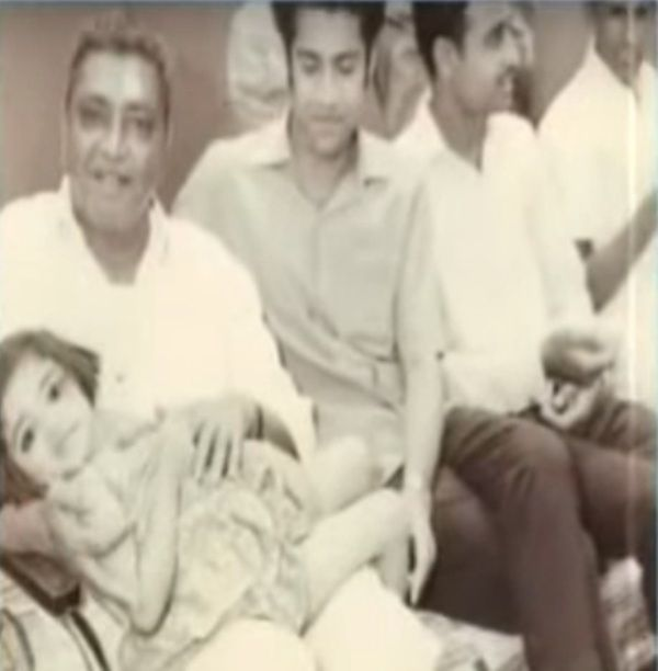 Poonamben Maadam With Her Father