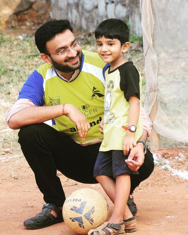 Prasanth Nair with his son