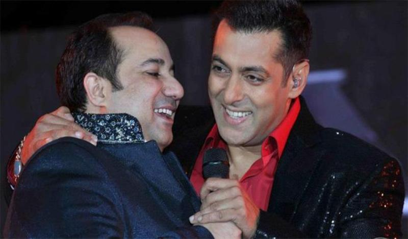 Rahat Fateh Ali Khan with salman Khan