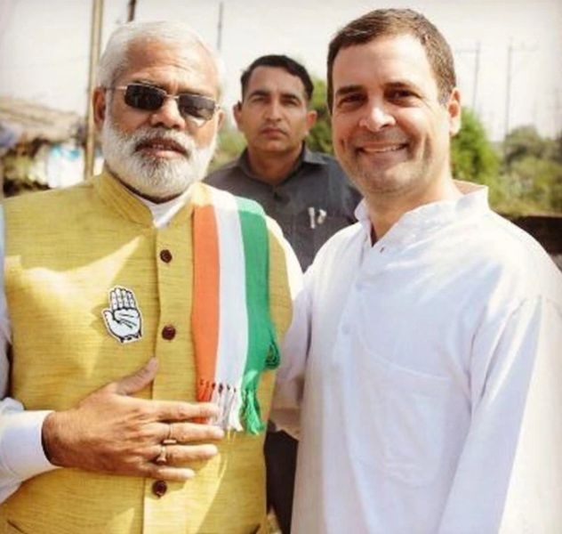 Rahul Gandhi And Abhinandan Pathak