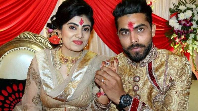 Ravindra Jadeja with his wife